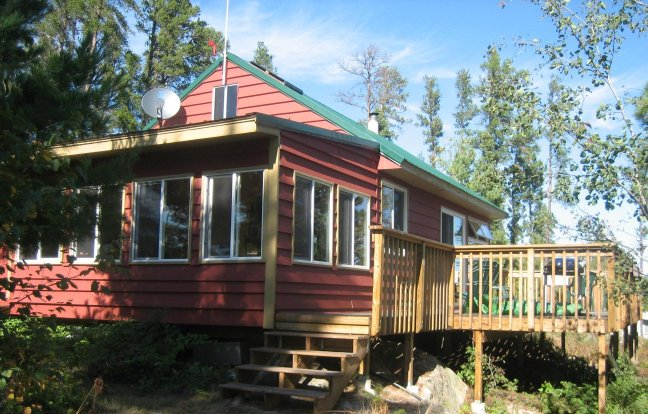 Cabin on saganaga lake for Minnesota fishing cabins